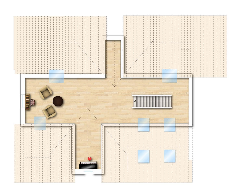 Grundriss Neubauwohnung 7 obere Etage Bodman im Weiler