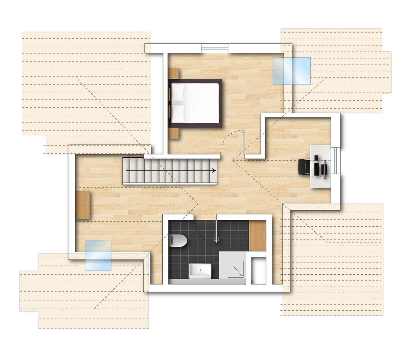Grundriss Neubauwohnung 8 obere Etage Bodman im Weiler
